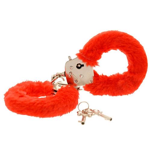Toy Joy Furry Fun Handcuffs Plush, Red