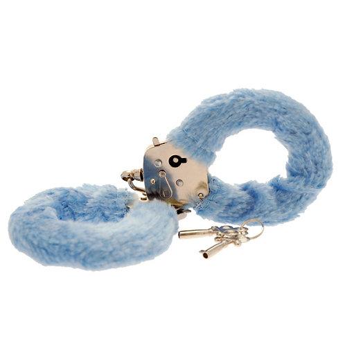 Toy Joy Furry Fun Handcuffs Plush, Blue
