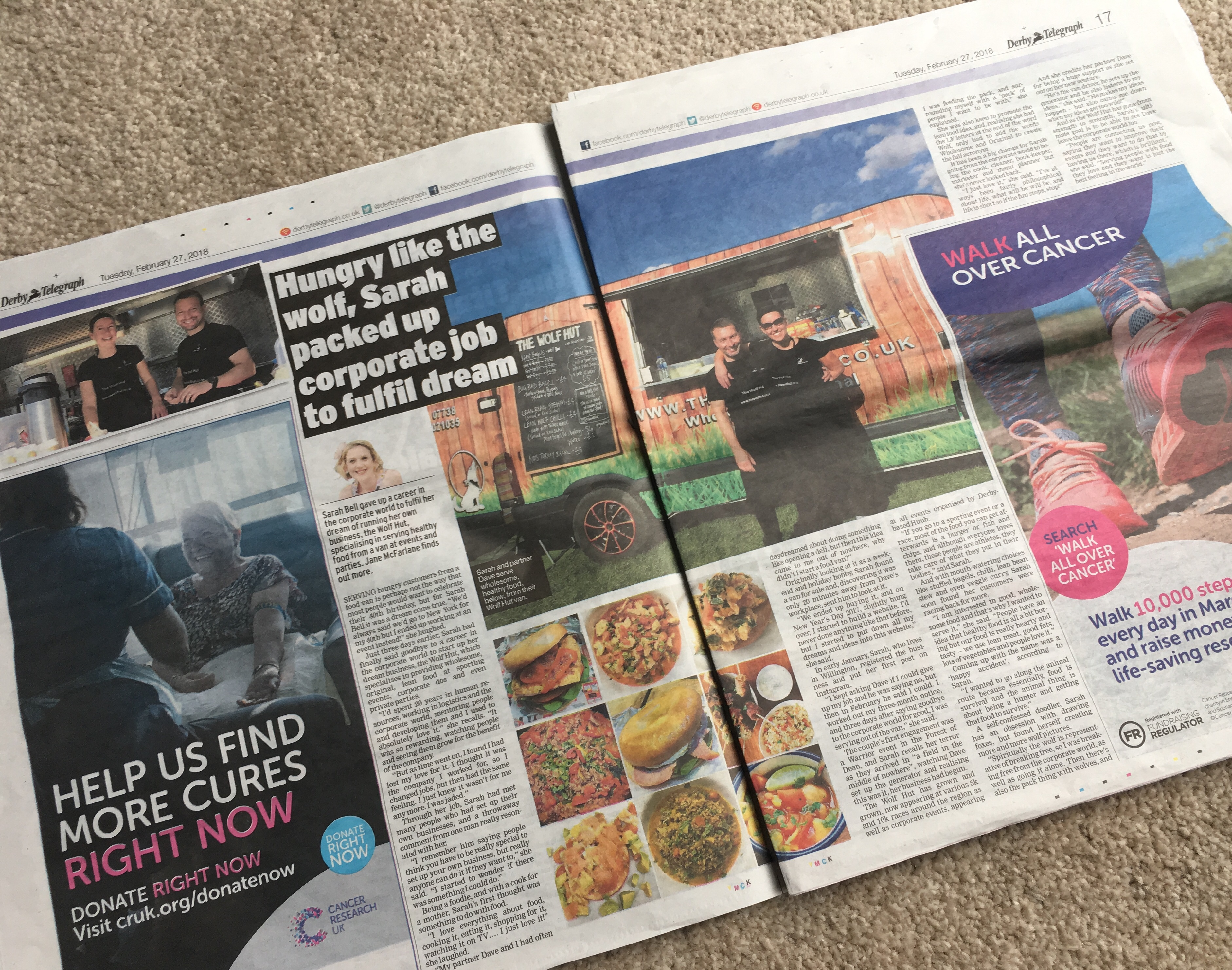 Derby Telegraph March 2018