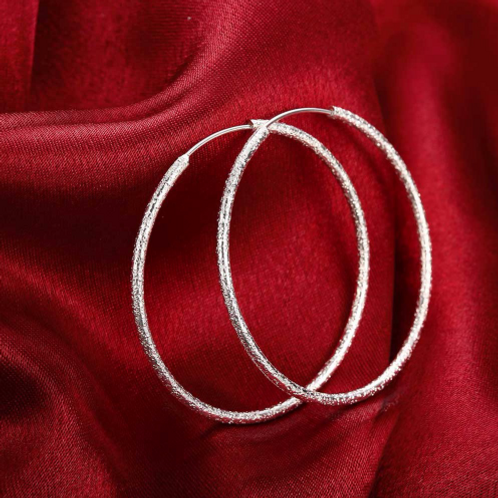 STERLING SILVER TEXTURED HOOPZ