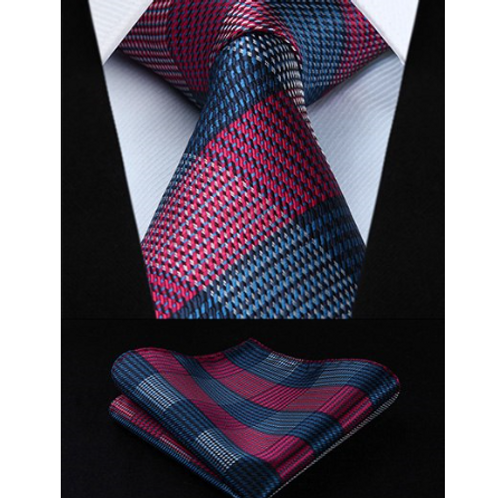 JACOB TYRE PLAID PODIUM~TIE & SQUAREZ SET