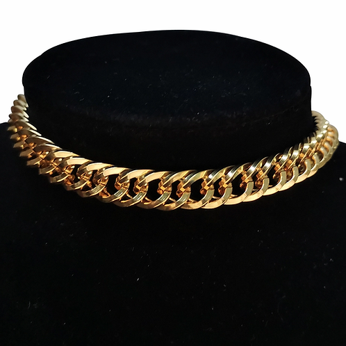 KASEY STAINLESS STEEL CHAIN LINK NECKLACEZ