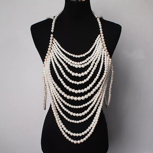 VESTS OF PEARLS ACCENT JEWELRY