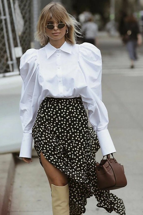 NAOMI EMPIRE SLEEVE BUTTONED BLOUSE