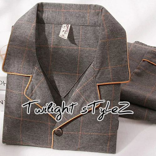 MEN'S  2 PIECE COTTON LOUNGEWEAR