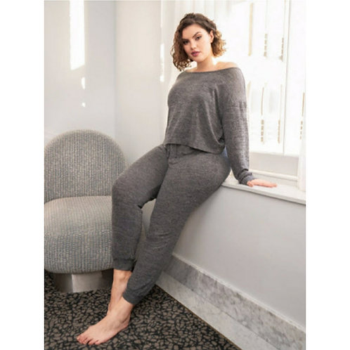 ONE SHOULDER RELAXED PAJAMAS-Plus