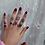 Thumbnail: PURPLE STONEZ FLOWER BLOOM KNUCKLE RING SETZ-9 PIECE