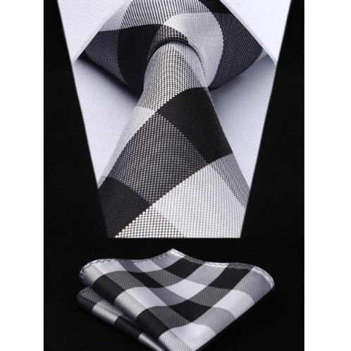 LAMONT PLAID PODIUM~TIE & SQUAREZ SET