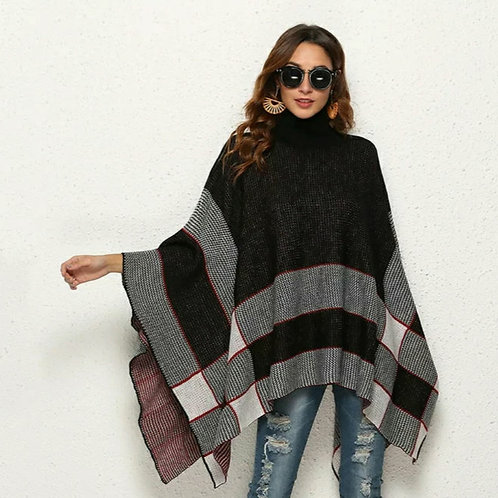 LACEY PONCHO AUTUMN PULLOVER