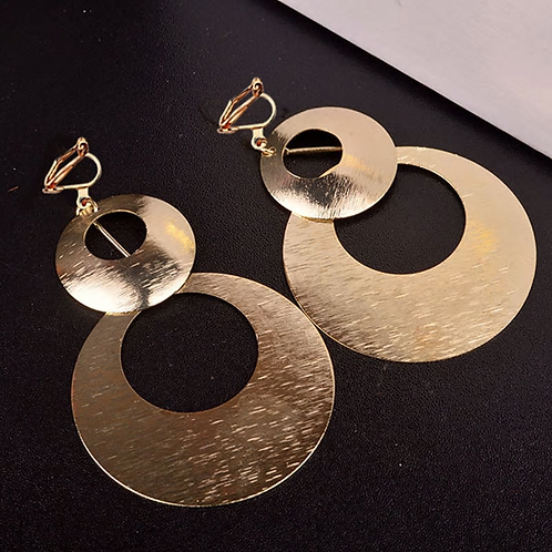 DOUBLE CIRCLE CLIP EARRINGZ