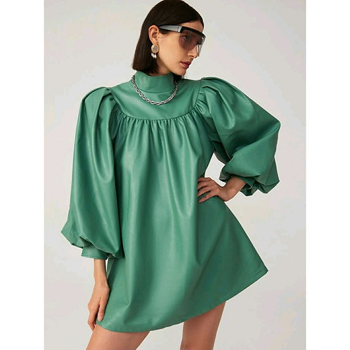 PASSION FOR PUFFS EMPIRE SLEEVE MINI DRESS