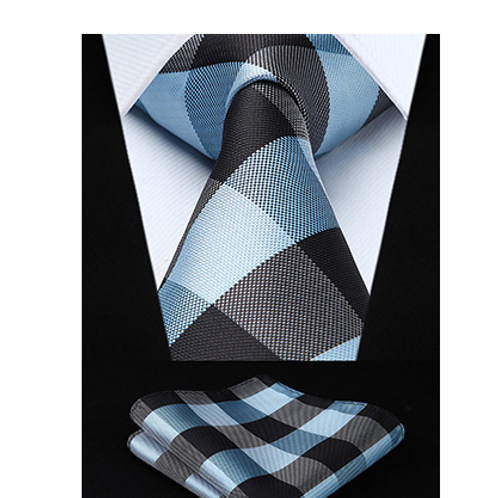 GUNTHER PLAID PODIUM~TIE & SQUAREZ SET