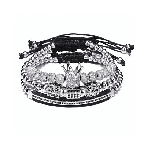 3 PC LUXURY PAVE CZ BRACELETZ