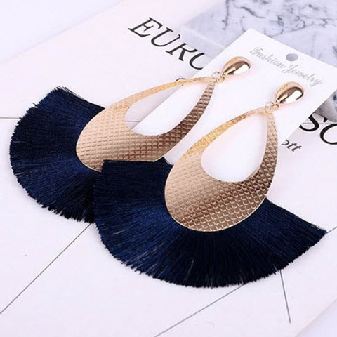 GEOMETRIC FRINGE LUXURY STATEMENT EARRINGZ