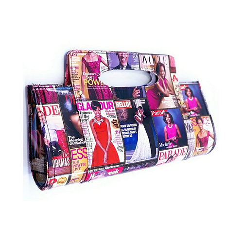OVERSIZED TOP HANDLE CLUTCH-MICHELLE OBAMA COLLECTION