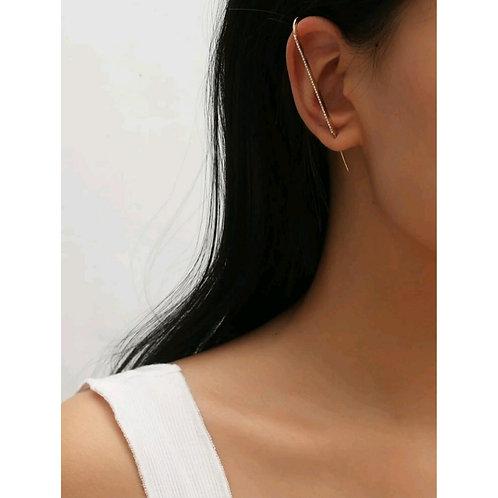 RHINESTONE THREAD EAR REGALIA