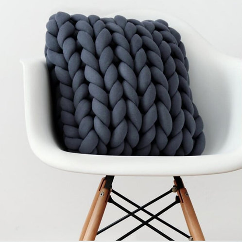 SQUARE CHUNKY KNIT THROW PILLOWS