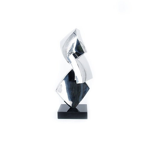 Space & form no. 4 - stainless steel