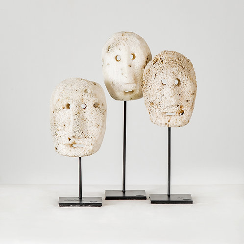Coral mask w/ stand