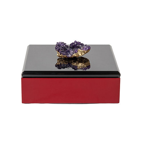 Splendid square candy box, black/ red - w230