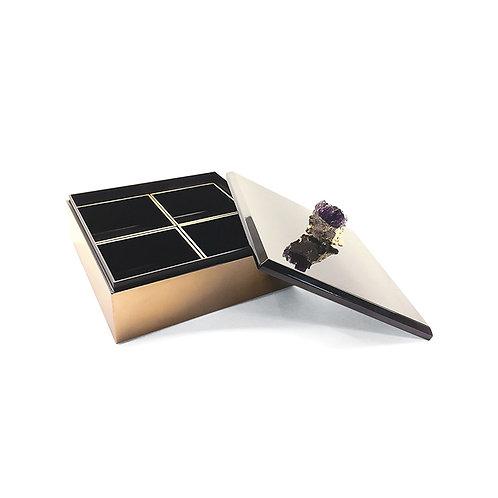 Splendid square candy box, black/ gold