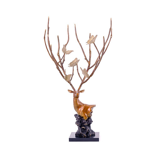 Deer sculpture- butterfly
