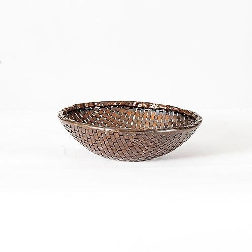 Brass weaving bowl - s (dark brown)