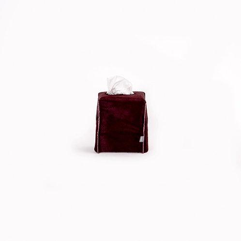 OVO - square tissue box (burgundy)