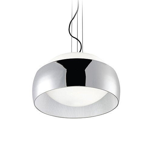 Halo pendant lamp in silver