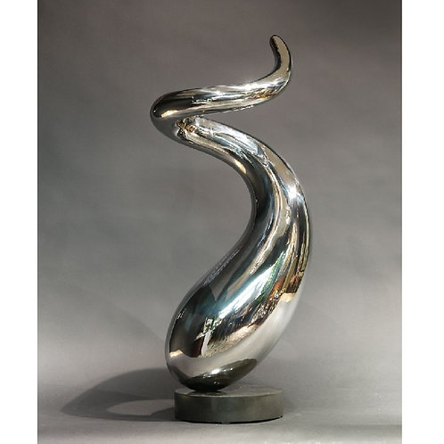 Space & form no. 5 - stainless steel - silver