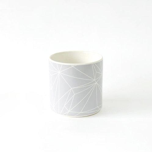 Cup grey geometric
