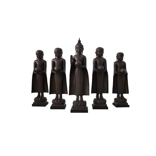 Bronze standing Buddha with stand