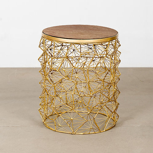 Rete stool w/ slate top