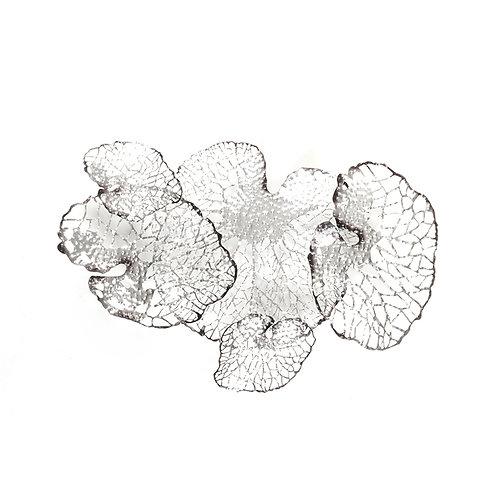 Laser cut lotus wall sculpture, w946mm