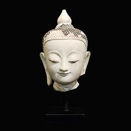 19th century shan buddha head #4