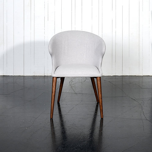 Quentin chair - light grey/ brown