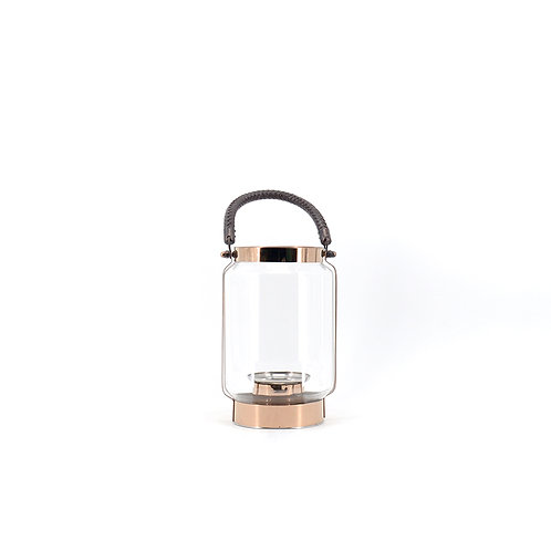 Portable rose gold lantern, H240