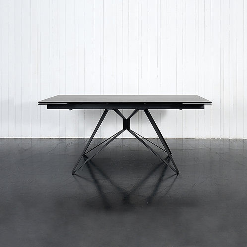 Link extendable dining table, dark grey