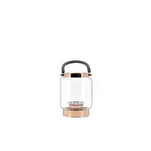 Portable rose gold lantern, H210