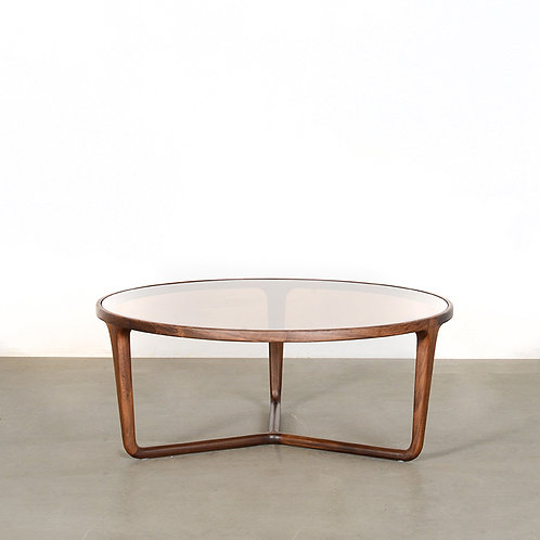Walnut Rodd round coffee table, dia900