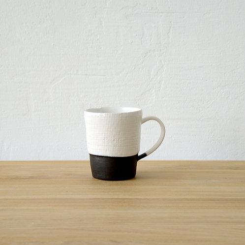 Ceramic mug - white and black
