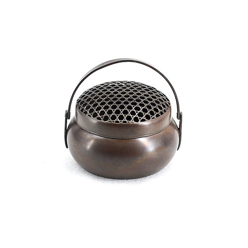 Round w/Handle Copper Incense Burner