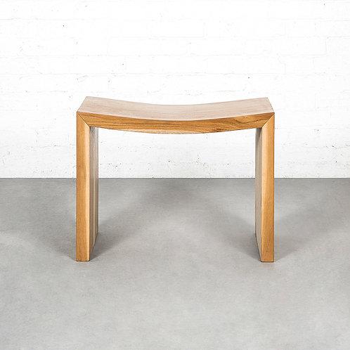 Teak wood stool (seat height: 430mm)