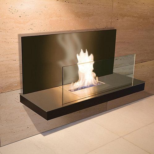 Wall flame ii fireplace - matt black cabinet