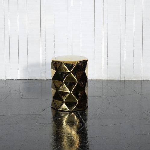 TS diamond stool - gloss gold