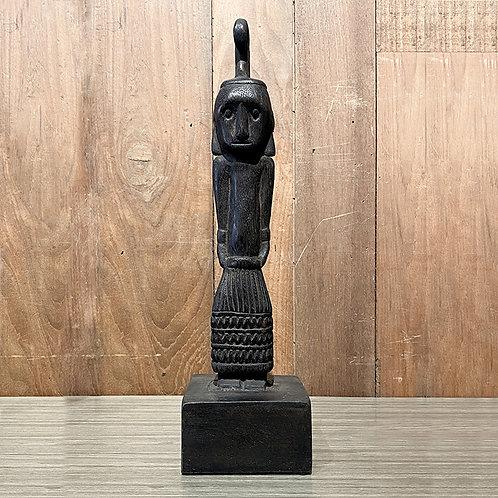 Wooden dayak figure #7 set of 2