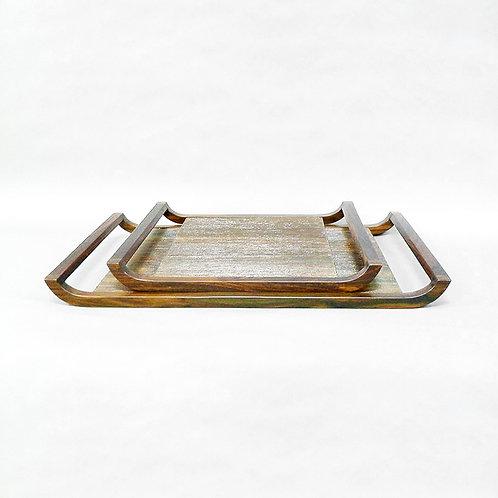 Pan-x carved veneer tray - L