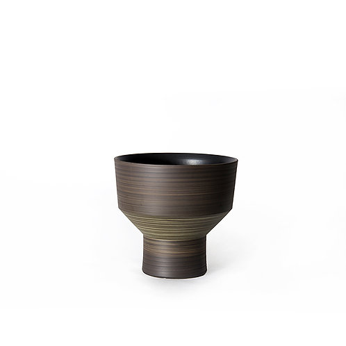 Funnel vase- short (dark grey)