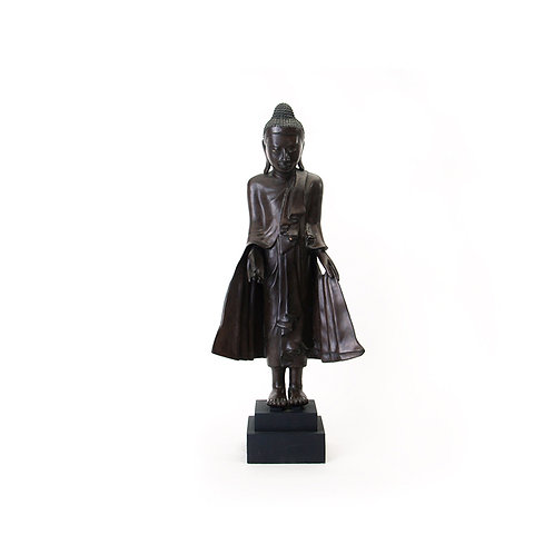 Bronze Mandalay style standing Buddha