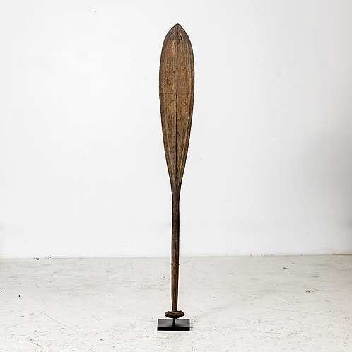 Old wood paddles w/ stand